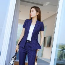 """西安女士西装 职业装订制 """"凡岛奇""""时尚休闲套装 白色 桔色 暗花"""