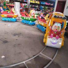 郑州儿童小火车轨道小火车一托三广场游乐设备