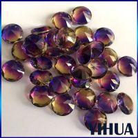 工厂直销定制人造宝石合成紫黄晶,仿天然彩宝西瓜碧玺水晶颜色