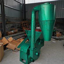 方便装袋沙克龙自动牧草粉碎机 玉米秸秆自动拨料大产量粉碎机