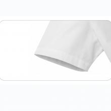 贵州女衬衣批发,订做行政夏装,商务衬衫,QDV-203T贵阳白色竖条纹天丝棉V字领韩版休闲短袖女衬衣