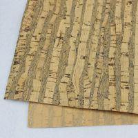 免费拿样 原木色条纹软木皮 环保耐磨软木布 超宽137CM 厂家直销