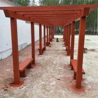 水泥仿木葡萄架 长廊 仿木花架 攀爬架