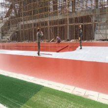 透气型塑胶跑道来料组成,学校塑胶跑道施工难点