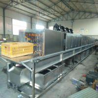 优质塑料箱清洗消毒机 热水清洗消毒烘干设备 康汇厂家