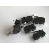 微动开关 PCB端子脚弯型摆杆 5安电流小型微动 小家电行程开关