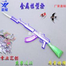 亚马逊热卖 仿真军事名枪合金枪械模型玩具 金属工艺小礼品