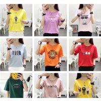 广州沙河5元以下服装批发哪里 女士上衣纯棉T恤便宜T恤批发夏季女装短袖上衣清货