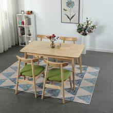 厂家直供北欧简约现代式实木餐桌椅家用小户型吃饭长方形餐桌椅组合