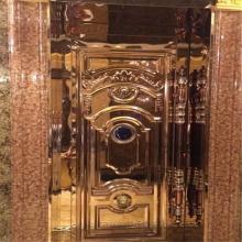 宁夏KTV包间门欧式深拉压花板 201玫瑰金镜面不锈钢门套