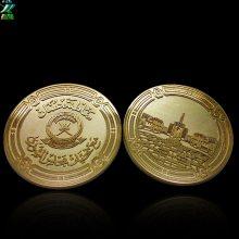 镀金铜币定制金属纪念币定制外贸热销纪念品周年纪念币定制