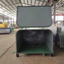 3立方勾臂垃圾箱 河南果皮箱 郑州垃圾箱环卫12方垃圾收集箱厂家