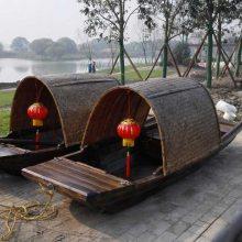 专业定制仿古乌篷木船 景区公园休闲手划观光小木船 木船厂
