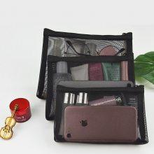 时尚尼龙网纱化妆品赠品包 透气便携 韩版旅行网袋 网纱化妆包