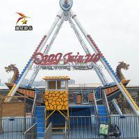 大型儿童游乐设备TX--HDC海盗船炫彩夺目的灯光