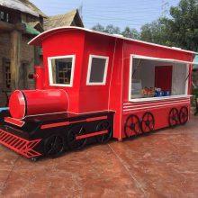 火车头主题候车亭设计制作 铁路工业怀旧风格主题售货亭