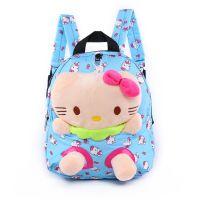 小白兔儿童帆布书包幼儿园中小班1-3岁男女孩双肩包韩版卡通背包