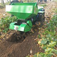 富兴核桃园履带式自动锄草机 可以山坡作业的履带旋耕机 多用途开沟施肥机
