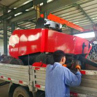 小麦秸秆倒槽捡拾快三倍投方案 小型拖拉机带动粉碎