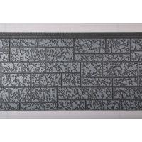 石头纹金属雕花板 镀铝锌彩钢夹芯板 外墙墙体保温隔热装饰材料 聚氨酯泡沫板