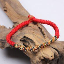 批发复古藏式手链五彩线编织 金刚结五彩绳红绳情侣手链编织