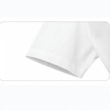 贵州短袖女衬衣 衬衫定做 订制行政夏装 QDV-202白色细斜纹天丝棉正规领暗门襟韩版休闲短袖女衬衣