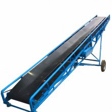 株洲市黄豆卸车皮带机 12米长带式输送机 家用粮食输送机qk