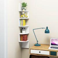 包邮壁挂转角置物架客厅墙上隔板墙角架卧室拐角书架厨房收纳架子