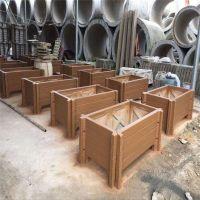 景观园林种植花草容器水泥仿木花箱/仿木花盆花桶