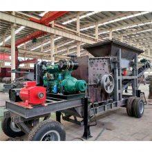 湖北武汉移动制砂机 小型流动打砂机可以用柴油机吗