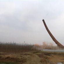 65米混凝土烟囱人工拆除公司