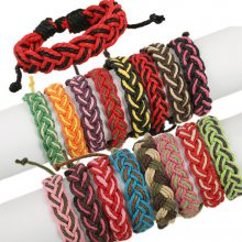 颜色随机 个性男女编织手链 手工手绳 多色混批 日韩DIY麻绳手链