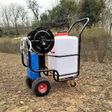 小型推车式电动打药机 花园苗圃除虫喷洒机 60L蓄电池喷雾器 浩阳