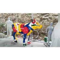广州玻璃钢大型彩绘牛动物雕塑生产厂家