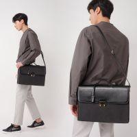 韩国男士手提包2018新款商务包横款单肩手拿包休闲斜挎包公文包