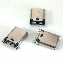夹板式Type-C 3.1母座 24P夹板1.0两面插L=1