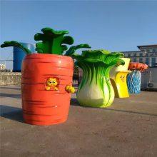 户外大型仿真蔬菜水果玻璃钢雕塑田园农庄白菜萝卜装饰景观摆件