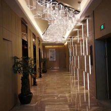 酒店异形亚克力吸顶灯 酒店走廊过道吸顶灯定制