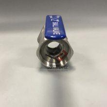 2寸丝扣球阀 304内螺纹不锈钢球阀 DN50手动球阀