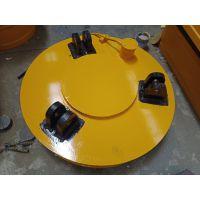 直销山东φ110mm圆形电磁吸盘 吸废铁废钢稳定强力吸盘安全高效