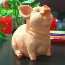 新奇特中式复古创意品树脂生肖零钱罐小猪储钱罐装饰树脂工艺品电视柜摆件