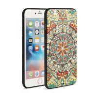 iphone6手机壳6s硅胶套苹果6手机壳浮雕彩绘保护套防摔民族风