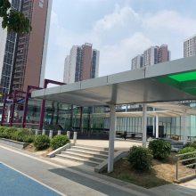 城市公共设施地铁站出口街道雨棚公交站台铝板
