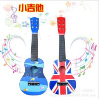 景区地摊热卖 早教玩具 创意儿童乐器音乐可弹奏卡通木制小吉他