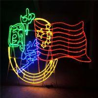 厂家定制商场美陈爱心拱门造型灯 LED灯光节时光隧道灯 公园夜景观灯