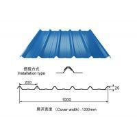 平顶山彩钢板板厂家YX25-200-1000型瓦楞墙面板规格齐全