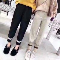 条绒阔腿裤女装 新款百搭纯色休闲长裤加厚直筒阔腿长裤女装弹力裤子