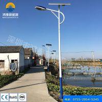 山西长治定制60W太阳能路灯 鸿泰供应6—9米分体式太阳能路灯厂家