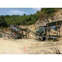 高低板车上的移动石子机 优质移动碎石子机
