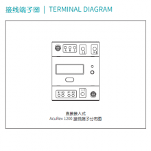 供应爱博精电AcuRev 1200导轨安装式单相电能表,液晶显示,7位数据位